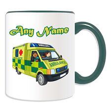 REGALO personalizzato AMBULANZA TAZZA MONEY BOX ospedaliera NHS St John Paramedic tazza di tè
