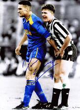 PAUL GASCOIGNE SIGNED Iconic Vinnie Jones 16x12 Photo AFTAL COA