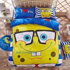 Single/King Single/Queen Bed Quilt/Doona/Duvet Cover Set SpongeBob High Quality