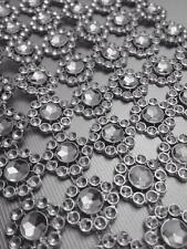 GIRASOLE strass bling scintillante Effetto Diamante Torta Nuziale Craft Nastro Trim