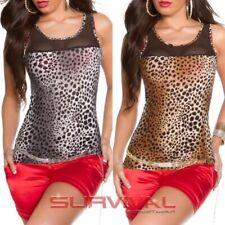 Womens New Sexy Summer Tank Top Leopard Print Sleeveless Singlet Size 8 10 12