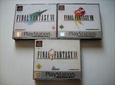 Final Fantasy VII + VIII + IX FF 7 + 8 + 9 Platinum PS1 Playstation 1 *