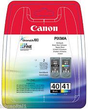 Canon PG-40 & CL-41 Negro & Color OEM PIXMA Cartuchos De Inyección De Tinta