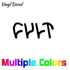 Cult BMX Sticker | Bike Helmet Car Window Vinyl Cut Decal Logo Brand Graphic