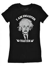 Einstein Womens S/S I'm Smarter Than Him Top Size XS S M L XL XXL
