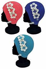 BLUE REEF bolla floreale signore 3 FIORE Contrasto Vintage Retrò Nuoto Cappello 2016