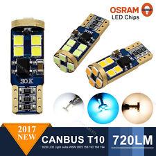 Genuine OSRAM LED Error Free Canbus T10 3030 12SMD Car Side Light 720LM Bulb 12V