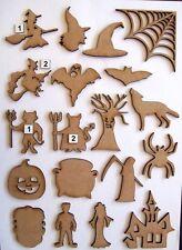 MDF Wood Halloween laser cut out shapes, craft making, decoration, embellishment