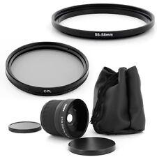 55mm Fish Eye 0.18x lens, CPL Filter for FUJI FUJIFILM S700 S5200 S5800 Finepix