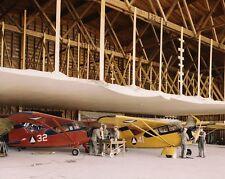 Servicing planes at Civil Air Patrol base in Bar Harbor Maine WWII Photo Print