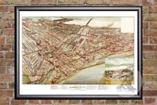 Vintage Kansas City, MO Map 1895 - Historic Missouri Art - Victorian Industrial