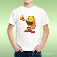 T-Shirt bébé Garçon Pacman Jaune Jeux vidéo Années 80 Idée Cadeau