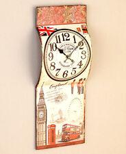 Europa Paris Eiffel Tower Clock London Big Ben Phone Booth Clock USA Flag Clock