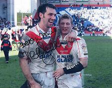 PAUL SCULTHORPE Signed 10X8 Photo ST HELENS & ENGLAND Rugby League LEGEND COA