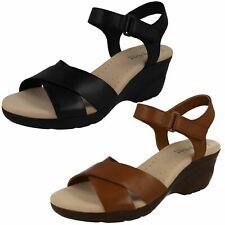 4111261e9e8f6 Ladies Clarks Casual Wedge Sandals Lynette Deb