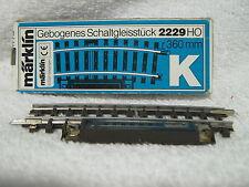 Märklin 2229 Schakelrail gebogen K rail R = 360° met boekje in doos nieuw.