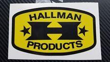Torsten Hallman Vintage MX sticker decal, AHRMA retro motocross label. (2) PAIR