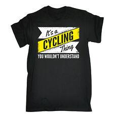 Su una cosa de ciclismo ciclista Camiseta Para Montar en Bici Bicicleta Divertido Regalo De Cumpleaños