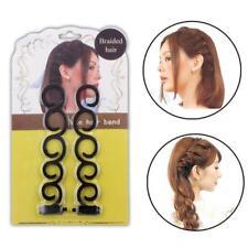French Braid Plaiting Twist Braider Roller Hook Bun Maker Hair Styling Tool T
