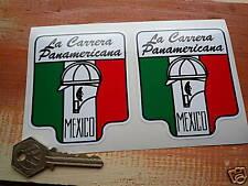 "Carrera Panamericana Classic Car STICKERS 3"" Pair MEXICO Racing Race Circuit"