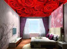 3D Roses Flower 9 Ceiling WallPaper Murals Wall Print Decal Deco AJ WALLPAPER GB