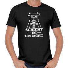 Schicht im Schacht Zeche Bergbau Kumpel Förderturm Ruhrgebiet Bottrop T-Shirt
