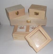 Holzbox Schatulle Truhe Holzkästchen Aufbewahrungsbox mit Deckel z. Selbstgestal