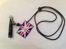 Acme dog training whistle and bisley leather lanyard 210 210.5 211.5 212