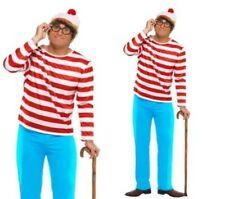 Wheres Wally? da uomo con licenza TV costume travestimento RECITA S-XL