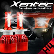 1Pair 7600LM 488W COB H4 C6 LED Car Headlight Kit Hi/Lo Turbo Light Bulbs 6000K