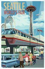 Space Needle & Monorail, Seattle World's Fair, Washington State Modern Postcard