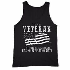 Veteran Tank POW MIA Military Memorial Army USA American Flag Tanktop Black