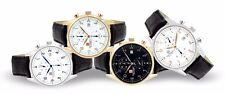 Steinhausen Men's Lugano Chronograph Stainless Steel Leather Dress Watches
