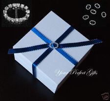 100 OVAL Wedding Diamante Rhinestone Invitation Buckles