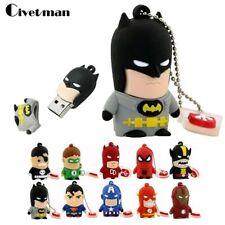SuperHero Iron Man Batman USB Flash Drive Thumb USB Memory Stick U Disk PenDrive