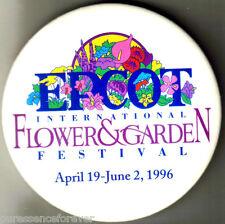 Disney Button Badge: WDW/Epcot - 3rd International Flower & Garden Festival 1996