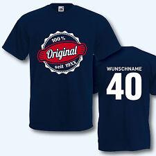 T-Shirt Trikot, Geburtstag, Original seit Wunschjahr, -name + Ziffer