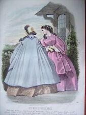 c39-9-16 Gravure de mode 1861 modes parisiennes