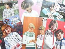 Lister Lochinvar DK Vintage Childrens Knitting Patterns - Take Your Pick jumpers