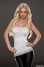 Women's Party Club Wear élégant dentelle APLIC Chemisier Shirt Top Wear Taille UK 10