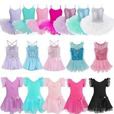 Kids Girls Ballet Dress Leotard Gymnastics Tutu Skirt Party Dance Wear Costumes