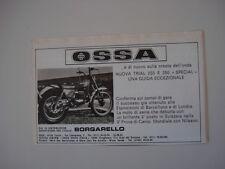 advertising Pubblicità 1977 MOTO OSSA TRIAL 250 / 350