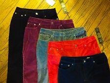 New!  Diane Gilman Stretch Velvet Skinny Jean - Black, Red, Gray, Navy, Wine