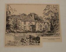 1892 magazine engraving ~ BIRTHPLACE OF TENNYSON, Somersby UK