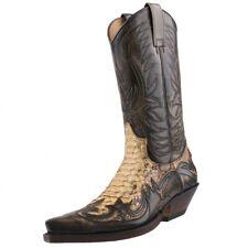 NUEVO SENDRA BOTAS vaqueras Botas de Cowboy Pitón 3241 Marrón
