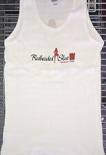 REDHEADED SLUT BAR Cocktail Women's White Tank Top Shirt 1x Rib Bar Wear Uniform