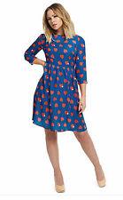 KIMBERLEY WALSH Heart Print Skater Dress  UK 8