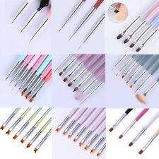 Acrylic Nail UV Gel Liner Brush Painting Pen Cuticle Cleaning Nail Art Pen Tool