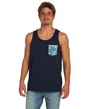 Canotta da uomo blu Billabong AllDayPrinted smanicata con taschino fantasia moda