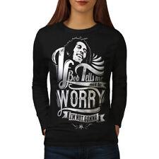 Bob Marley Dont Worry Women Long Sleeve T-shirt NEW | Wellcoda